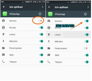 WhatsApp tidak bisa terhubung denganbkamera