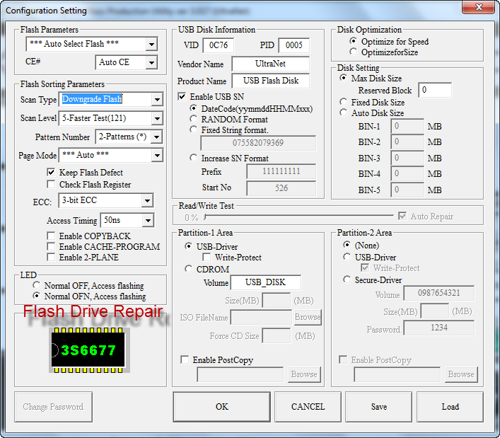 Software repair usb drive flash