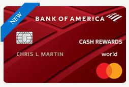 Bank of america cash reward credit card