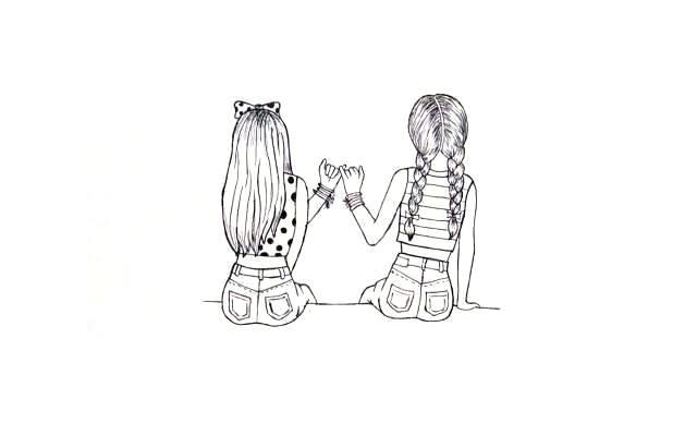 dibujos faciles de amistad para mis amigas