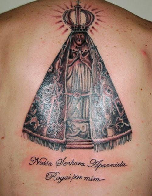 Tatuagem Nossa Senhora Aparecida Nas Costas