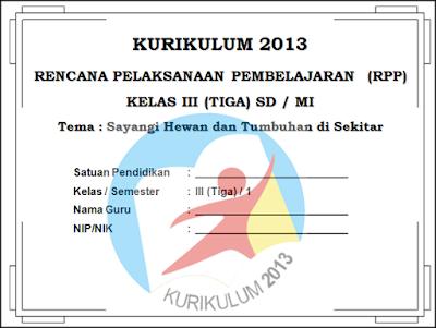 Download Contoh RPP Silabus Promes dan KKM Kelas 3 Kurikulum 2013