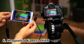 Mengontrol Kamera DSLR adalah salah satu manfaat USB OTG