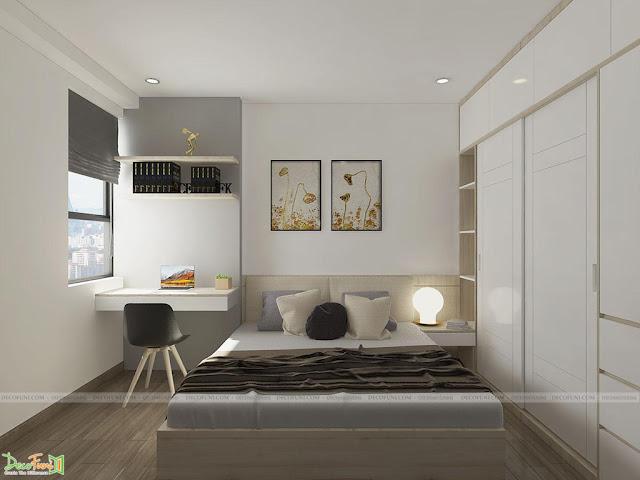 Thiết kế và thi công từ xây dựng thô cho đến hoàn thiện nội thất căn hộ chung cư Saigon South Residences Phú Mỹ Hưng - SSR - Phòng Ngủ