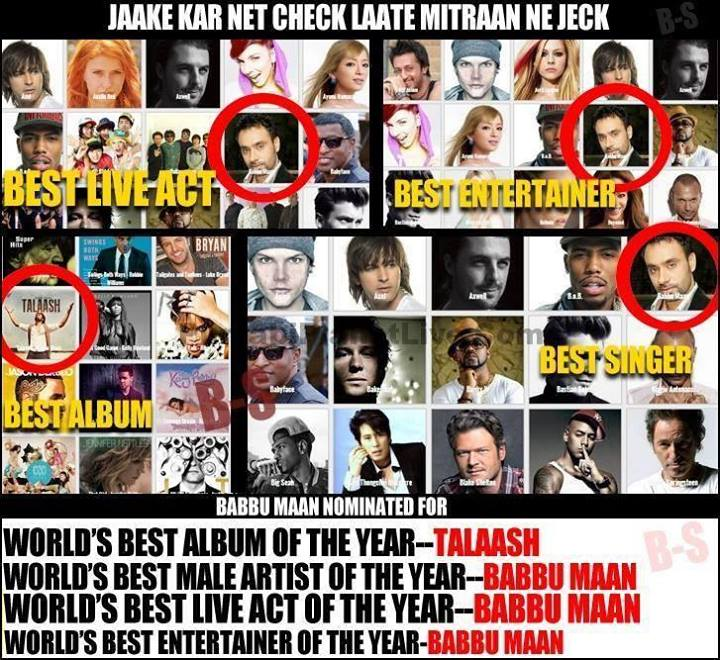 Babbu Mann Nominated For World Music Awards 2014