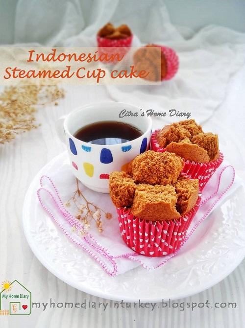 BOLU KUKUS GULA MERAH BEREMPAH / INDONESIAN PALM SUGAR STEAMED CUP CAKE| Çitra's Home Diary. #steamedcake #bolkusmekar #bolukukusmekar #bolukukusgulamerah #resepjajantradisional #indonesiansnack #indonesianfoodrecipe #steamedcake #palmsugar #palmsugarcake #snack