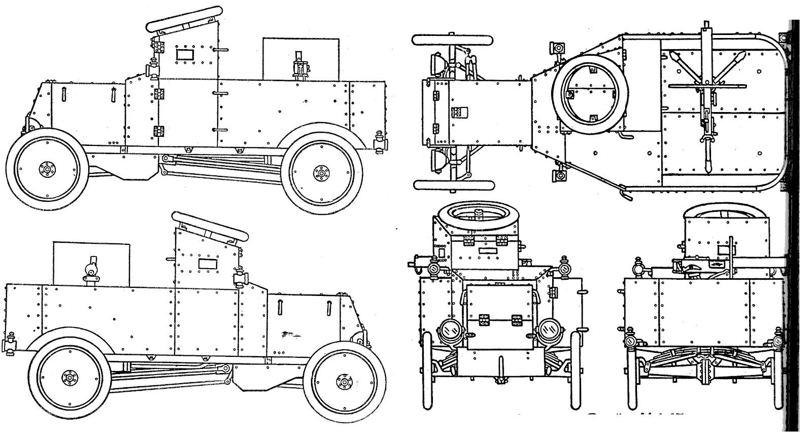 MG3D creative: Ford T armoured car