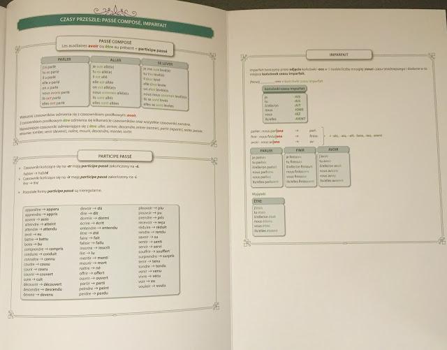 """Recenzje #157 - """"C'est parti ! 2"""" - wewnętrzne strony okładki podręcznika - Francuski przy kawie"""