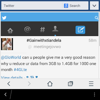 GLO REDUCES DATA SIZE, SEE THEIR NEW TERMS AND CONDITION 1