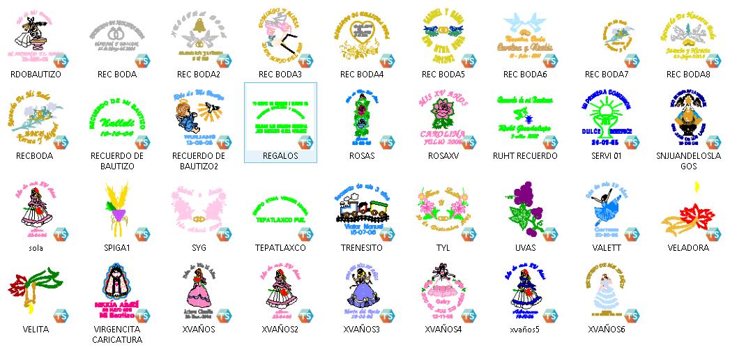 pack 35 diseños bordado ~ BORDADOS Y VECTORES