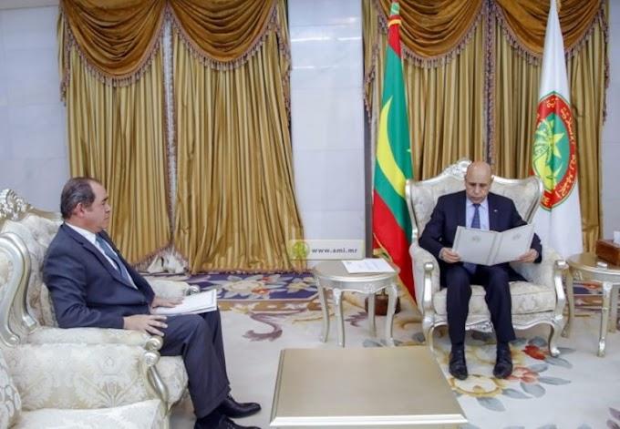 وزير الخارجية الجزائري يعبر عن إمتنانه للإستقبال الذي حظي به من قبل الرئيس الموريتاني.