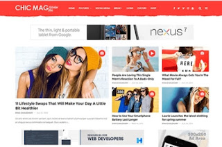 chicmag SEO friendly fashion blogger templates