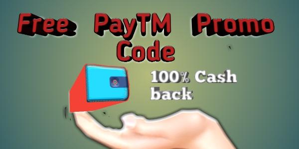 Free PayTM PromoCode Code For Cashback