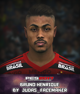 PES 2017 Faces Bruno Henrique by Judas