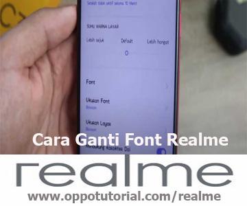 Cara Ganti Font Realme