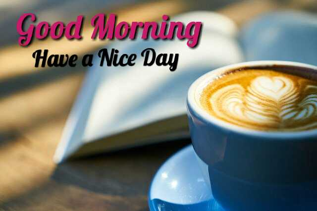 Beautiful Good Morrning image with coffee cup have a nice day