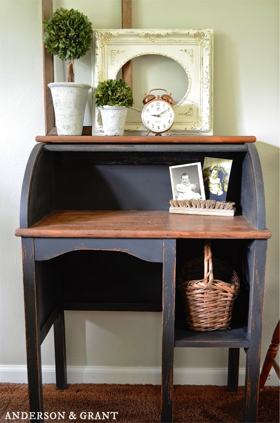 Do you ever see a piece of really junky furniture and wonder if it still has potential?  Check out this furniture transformation for proof that even the worst pieces can be made into something beautiful!  | www.andersonandgrant.com