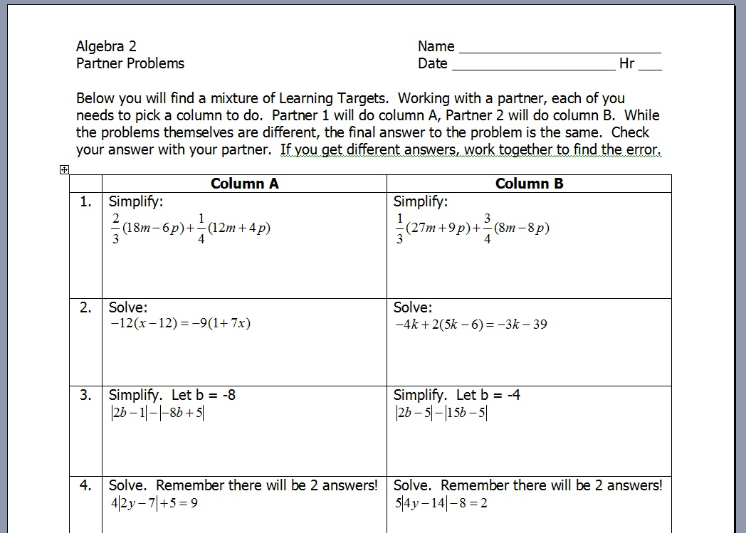 Teaching Statistics 2012 – Graphing Quadratic Functions in Standard Form Worksheet