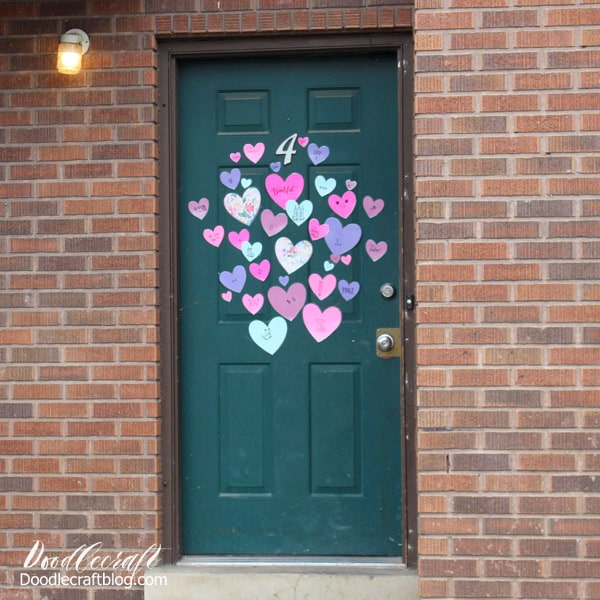 Valentine S Day Heart Attack Front Door Surprise
