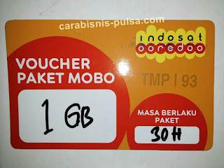 Voucher Kuota Internet Indosat 1GB 30 Hari