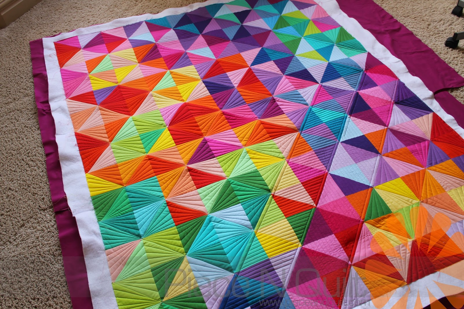 Piece N Quilt Half Square Triangle Quilt Custom Machine Quilting By Natalia Bonner,Strawberry Wine Song