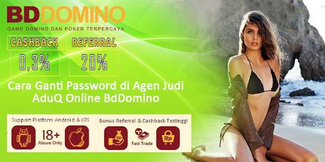Cara Ganti Password di Agen Judi AduQ Online BdDomino