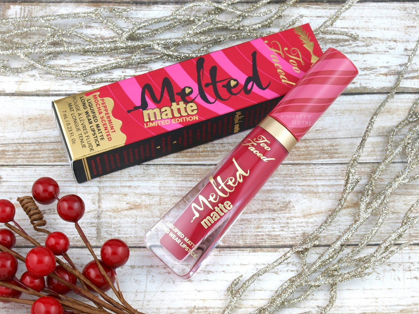 Too Faced Melted Matte Liquified Long Wear Matte Lipstick in Candy Cane