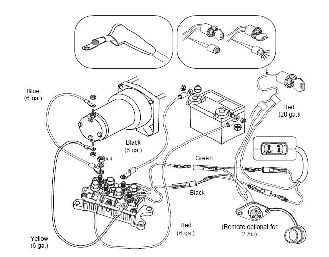 Warn M12000 Solenoid Wiring Diagram 96 S10 Radio Badland Winches Wireless Remote - And Fuse Box