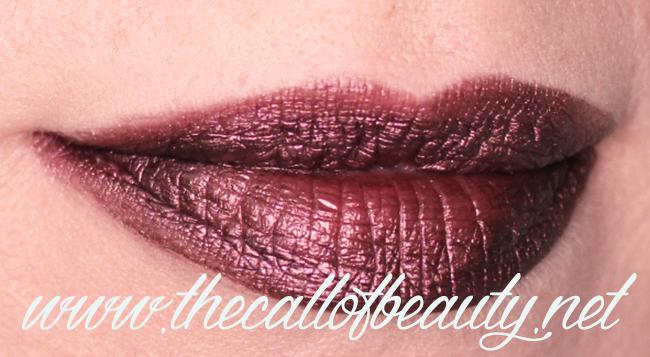 Lip Swatch: Gerard Cosmetic Metal Matte Liquid Lipstick Underworld