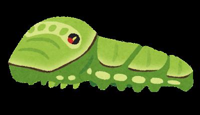 アゲハチョウの幼虫のイラスト