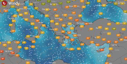 Αυξημένες συγκεντρώσεις αφρικανικής σκόνης στα ανατολικά και νότια - Λίγες τοπικές βροχές στην Ανατολική Μακεδονία και Θράκη
