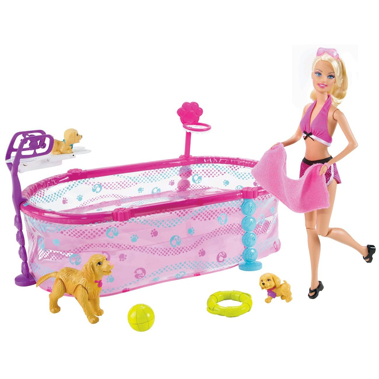 Autistic Toys For Children Barbie Puppy Swim School Pool