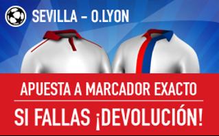 sportium devolucion Sevilla vs Lyon champions 27 septiembre
