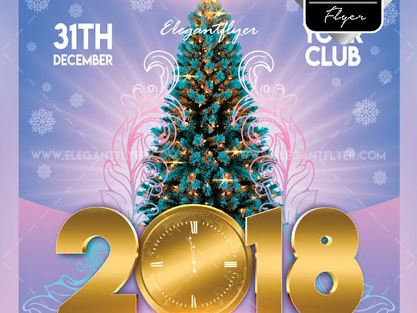 Download New Year 2018 Flyer Templates PSD Free