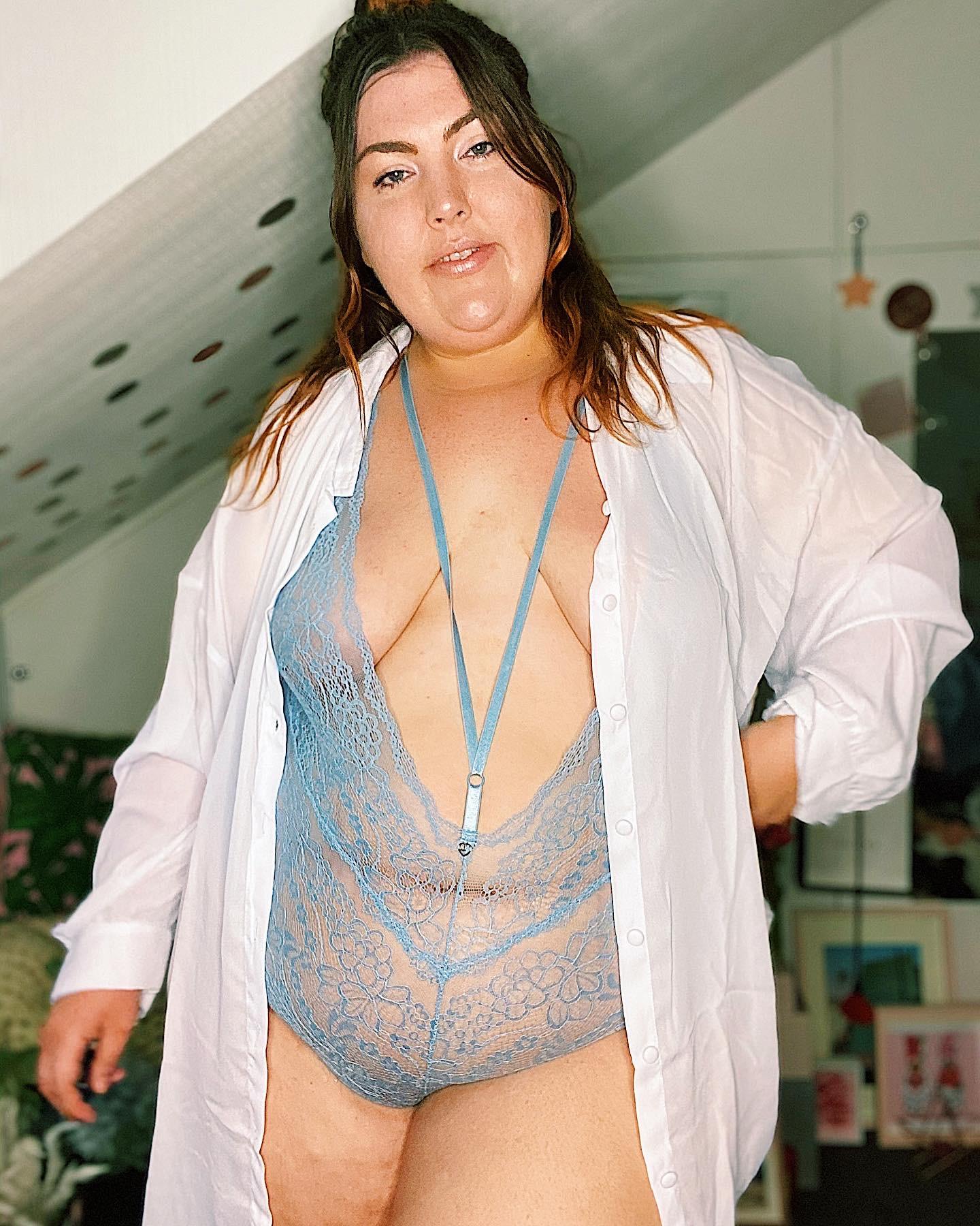 Cardifforniagurl LoveHoney Plus Size Lingerie Bodysuit