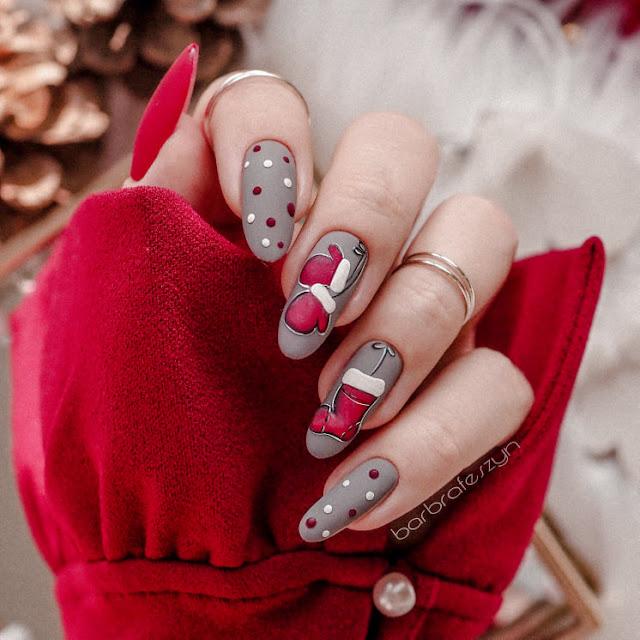 świąteczne zdobienie paznokci