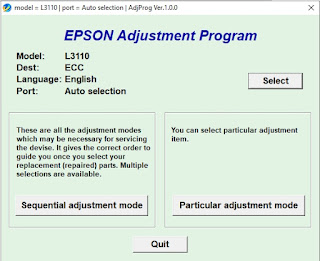 Epson Adjustment Program L3110