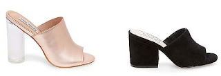 Steve Madden's Classics With Cylindrical Glass Heel and Dalis Peep-Toe Shoes