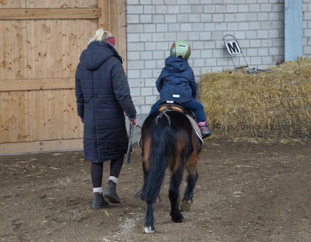 Vom Glück dieser Erde: Urlaub auf dem Küselhof und Reiterhof Witt auf Fehmarn. Ein Ritt auf Pony Max macht mein kleines Mädchen glücklich.