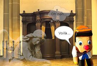 Peña serait-il un vrai Pinocchio ? Son ange pleure devant le confessionnal.