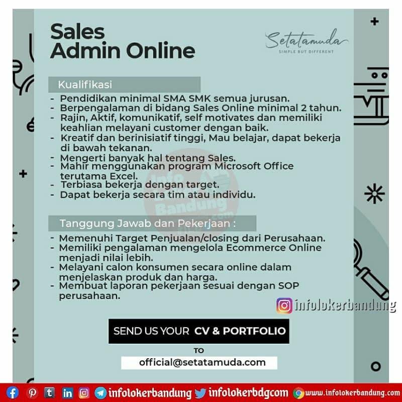 Lowongan Kerja Setatamuda Bandung April 2021