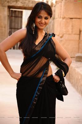 Anushka Shetty Black Saree
