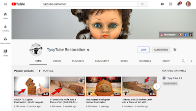 A screenshot of TysyTube's channel on YouTube.