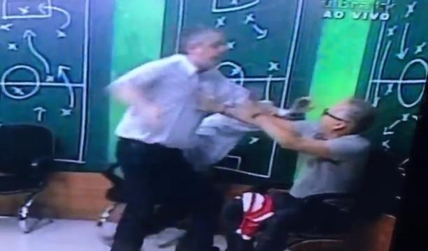 Fernando Miranda perdeu a linha e partiu para cima do repórter em discussão acalorada.