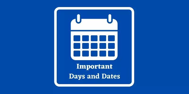 List of Important Days and Dates 2021