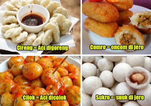 Singkatan makanan bahasa Sunda