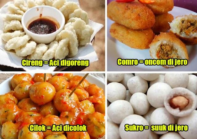 Yuk, Mengenal Akronim Makanan dan Benda-Benda dalam Bahasa Sunda