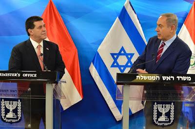 Después de mantener un encuentro privado con el presidente de Paraguay, Horacio Cartes, el primer ministro Binyamin Netanyahu destacó su deseo de acercar Israel a América Latina y ampliar las relaciones bilaterales. Los mandatarios firmaron acuerdos de cooperación en varias áreas, incluida la enseñanza del Holocausto.