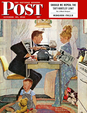 1948 The Obvious Choice by Norman Rockwell