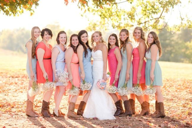 Country Rustic Summer Bridesmaid Dresses Bridal And